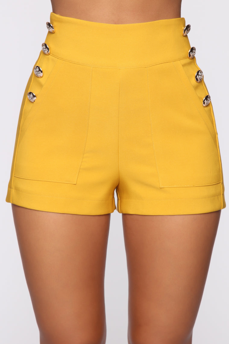 Brunch Club Shorts - Mustard