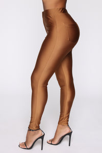 Angelina High Rise Skinny Pants - Camel