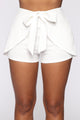 Cool For the Summer Tie Waist Shorts - White