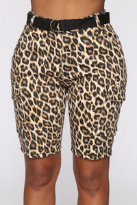 On The Prowl Cargo Shorts - Brown/Combo