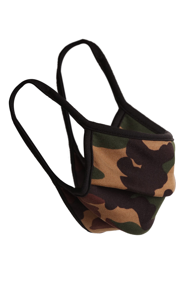 Camo Face Mask - Green