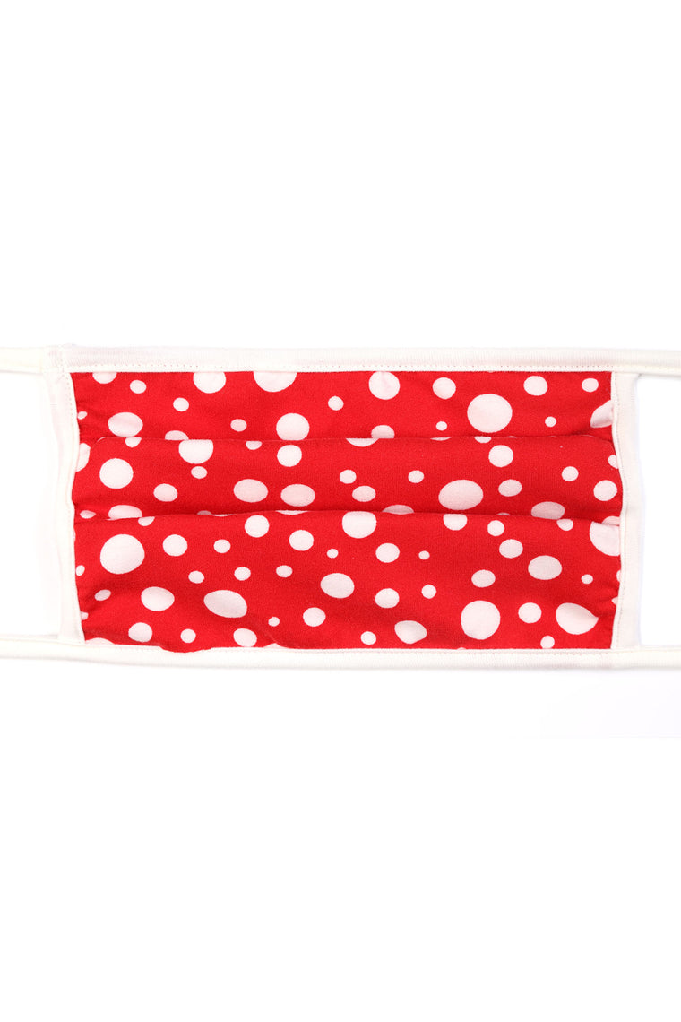 Polka Dot Face Mask - Red/White