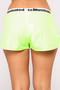 Sports Illustrated Shorts - Neon Green