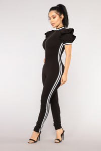 Auto Pilot Athletic Jumpsuit -  Black
