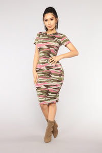 Major In General Camo Dress - Pink Camo