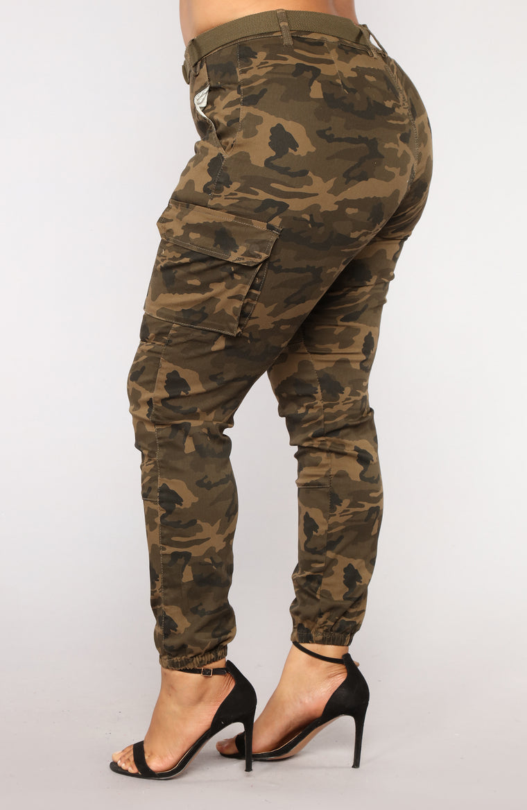 f94a314b65589 Don't Call Me High Rise Joggers - Olive Camo