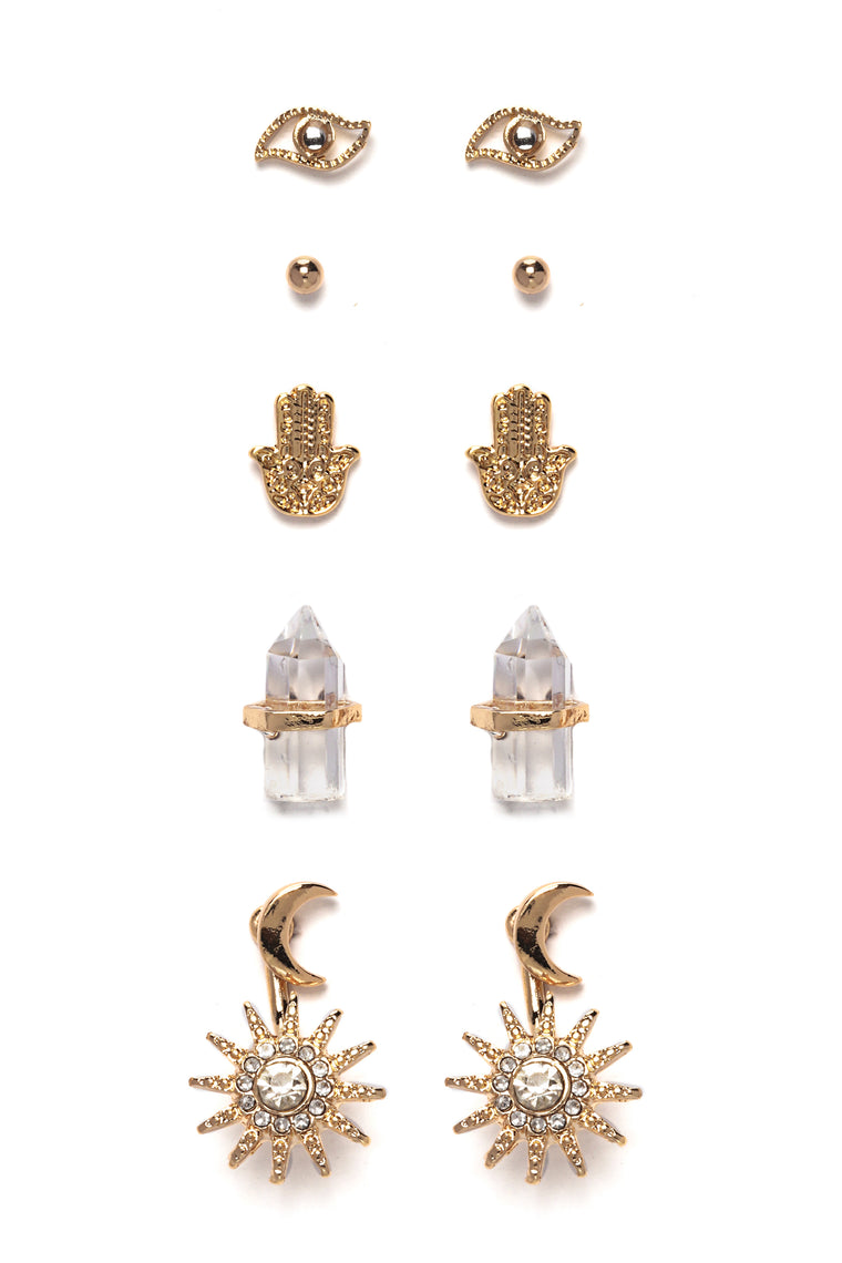 The Best Yet Stud Earring Set - Gold