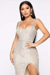 Family Affair Sequin Dress - Silver Angle 3