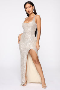 Family Affair Sequin Dress - Silver Angle 1