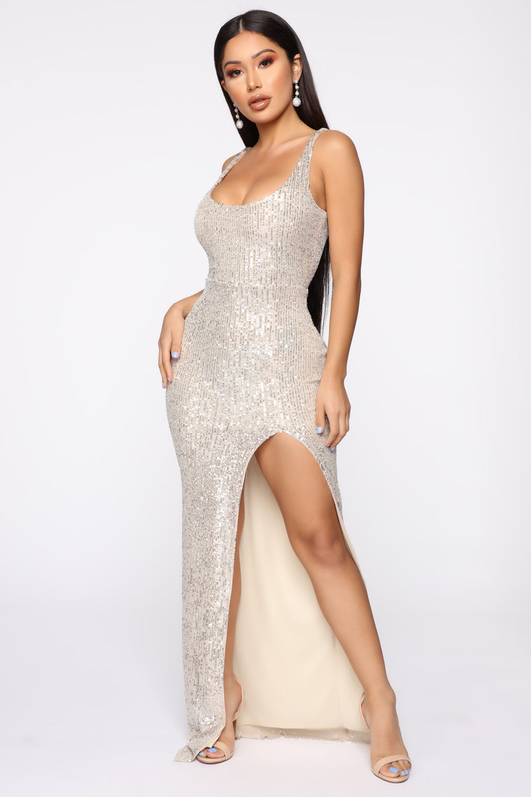 Family Affair Sequin Dress - Silver