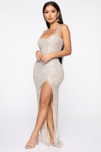 Family Affair Sequin Dress - Silver Angle 4