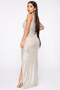 Family Affair Sequin Dress - Silver Angle 5