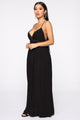 Fun Don't Stop Maxi Dress - Black