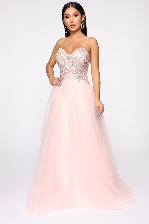 8d2db692fde5 Glide Across The Room Tulle Gown - Rose Pink