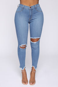 Well Played Jeans - Medium Blue Wash Angle 2