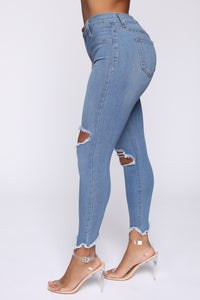 Well Played Jeans - Medium Blue Wash Angle 5