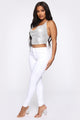 Never Let Go Halter Top - White/Hologram