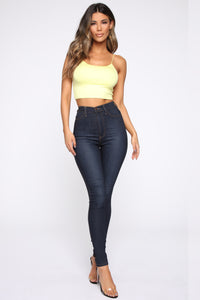 Kiki Cropped Top - Yellow Angle 2