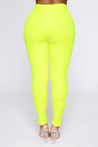 Knot Your Girl Pants - Neon Yellow Angle 6