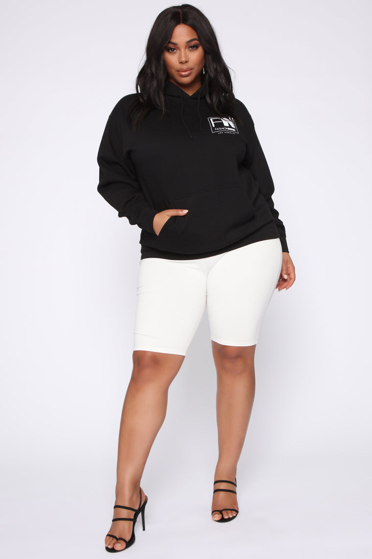 Stole Your Boyfriend's FN Hoodie - Black/White