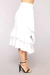 Anita Ruffle Skirt - White