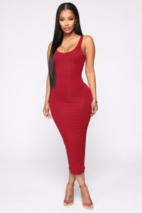 Your Needs Met Dress - Red Angle 1