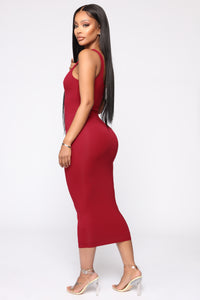 Your Needs Met Dress - Red Angle 3