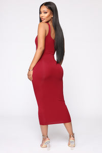 Your Needs Met Dress - Red Angle 4