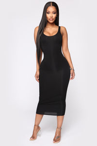 Your Needs Met Dress - Black Angle 1