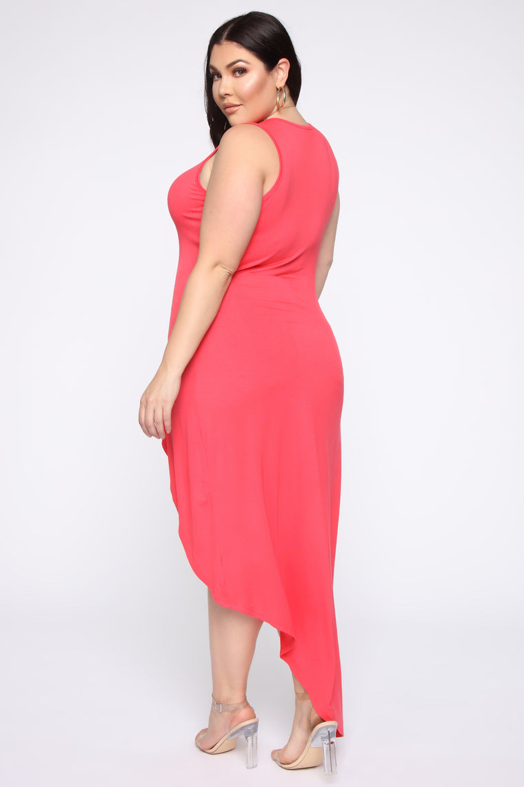 I'll Be Your Motivation Tunic Top - Coral