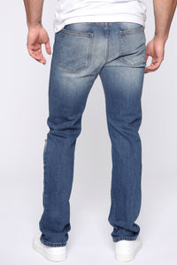 Maddox Straight Jeans - Vintage Wash