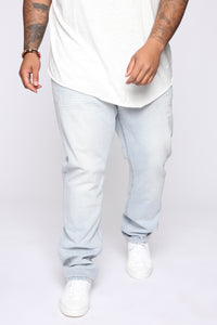 Derrick Straight Leg Jeans - Light Fade Wash Angle 7