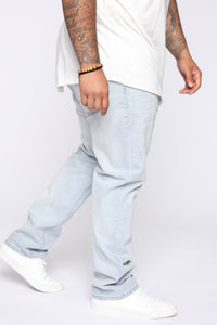 Derrick Straight Leg Jeans - Light Fade Wash Angle 9