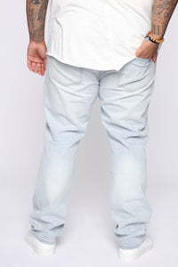 Derrick Straight Leg Jeans - Light Fade Wash Angle 11