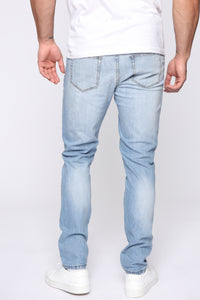 Domo Skinny Jeans - Light Blue Wash Angle 5