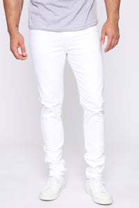 Terrence Skinny Jean - White Angle 1