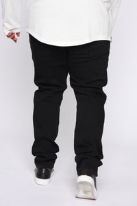 Crosby Slim Tapered Jeans - Black Angle 11