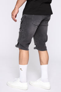 Carlos Denim Shorts - Black