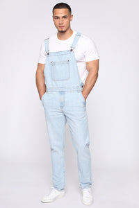 Lennie Overalls - Light Blue Wash Angle 3
