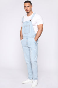 Lennie Overalls - Light Blue Wash Angle 4