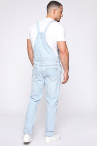 Lennie Overalls - Light Blue Wash Angle 5