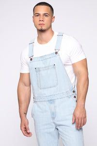 Lennie Overalls - Light Blue Wash Angle 2