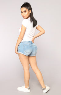 Summer Forever Denim Shorts - Light Blue Wash