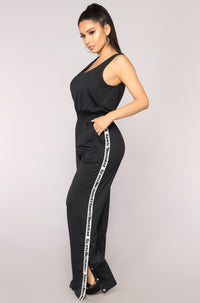 Sports Illustrated Snap Side Jumpsuit - Black