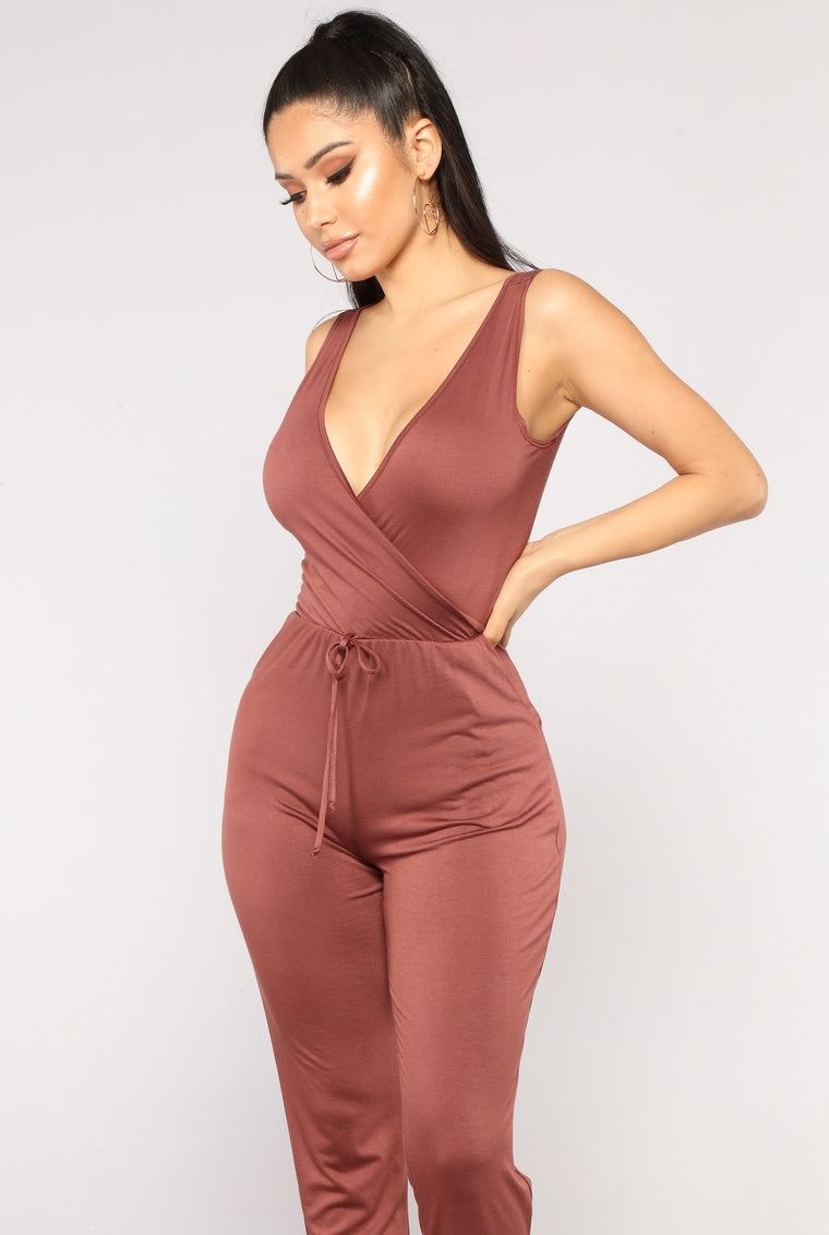 Murry Jumpsuit - Red Brown