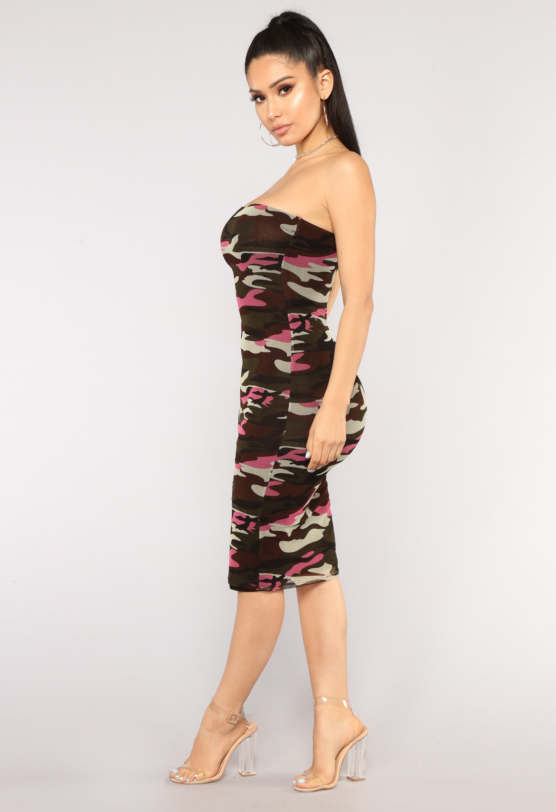 4a492335516 Fightin  Chance Tube Dress - Pink Camo