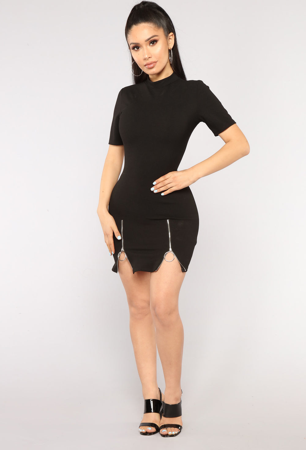 Over You O Ring Dress - Black