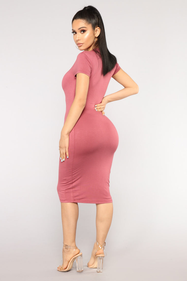 Katelynn Midi Dress - Marsala