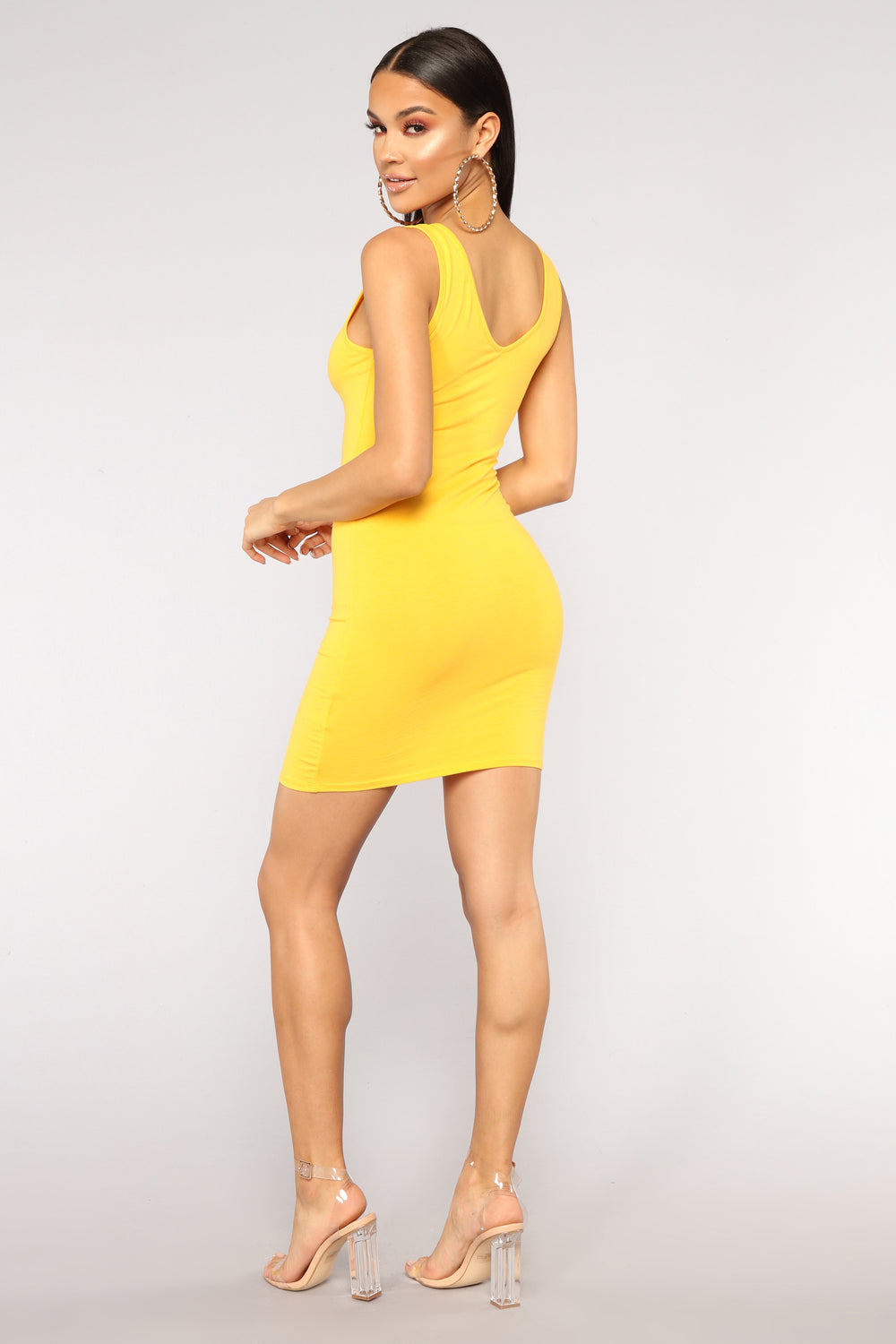 Keep It Casual Mini Dress - Yellow