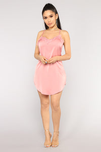 Slipped Into Something Better Dress - Mauve